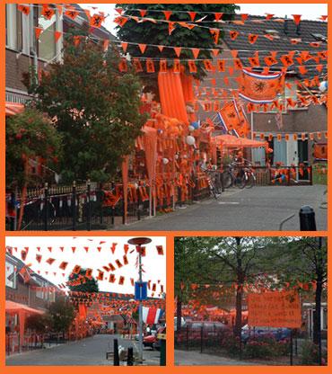 oranjefans in Sterrenwijk