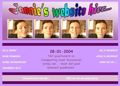 Jannie's eerste homepage