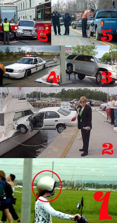Vrouwen kunnen niet rijden, dat weet toch iedereen !!!