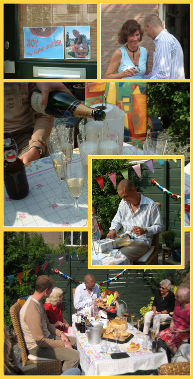 surpriseparty in de tuin