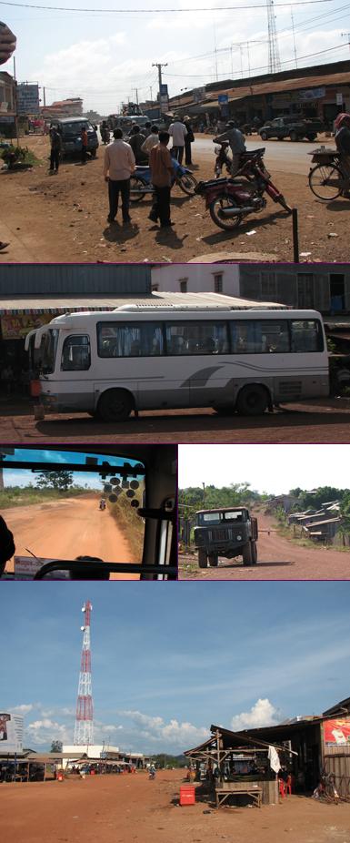 Cambodja - met de bus van Kompong Cham naar Sen Monorom
