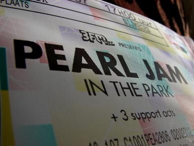 Wij gaan naar Pearl Jam in the Park!