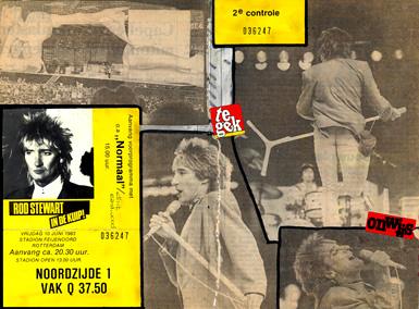 In 1983 ging 14-jarig Jansje naar Rod Stewart in de Kuip in Rotterdam. Een kaartje koste nog geen 40 gulden!