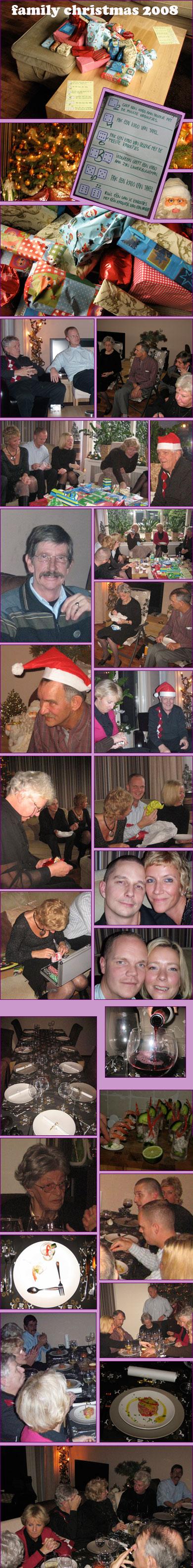 kerstmis met de hele familie, mijn zus en ik met onze mannen. Onze ouders, hun ouders en oma. supergezellige dag gehad!