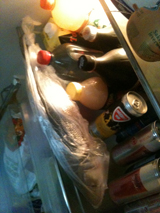 er ligt een vis in m'n koelkast