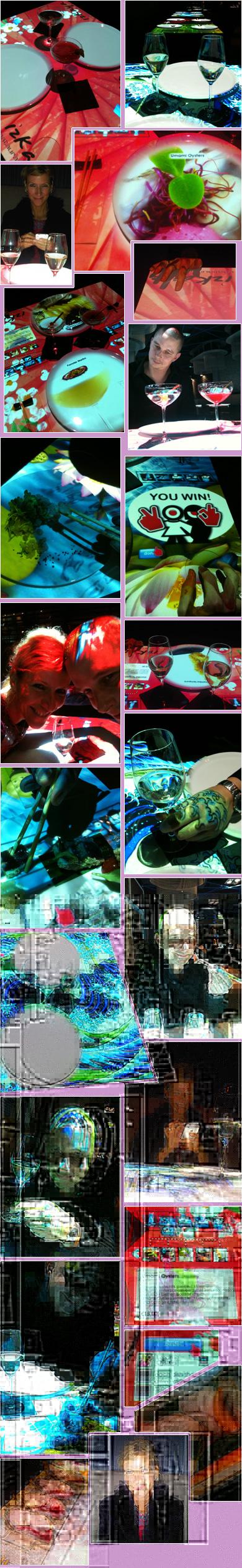 Afgelopen zaterdagavond hadden we dus een primeurtje. High Tech en met stokjes eten in Asian Food restaurant Izkaya op de Lijnbaan in Rotterdam. De tafel is een groot projectiescherm waarop je met je vinger op een touchpad alles kunt doen wat nodig is om heerlijk te eten en drinken en daarbij nog een heleboel entertainment op de koop toe te krijgen. Een aanrader!