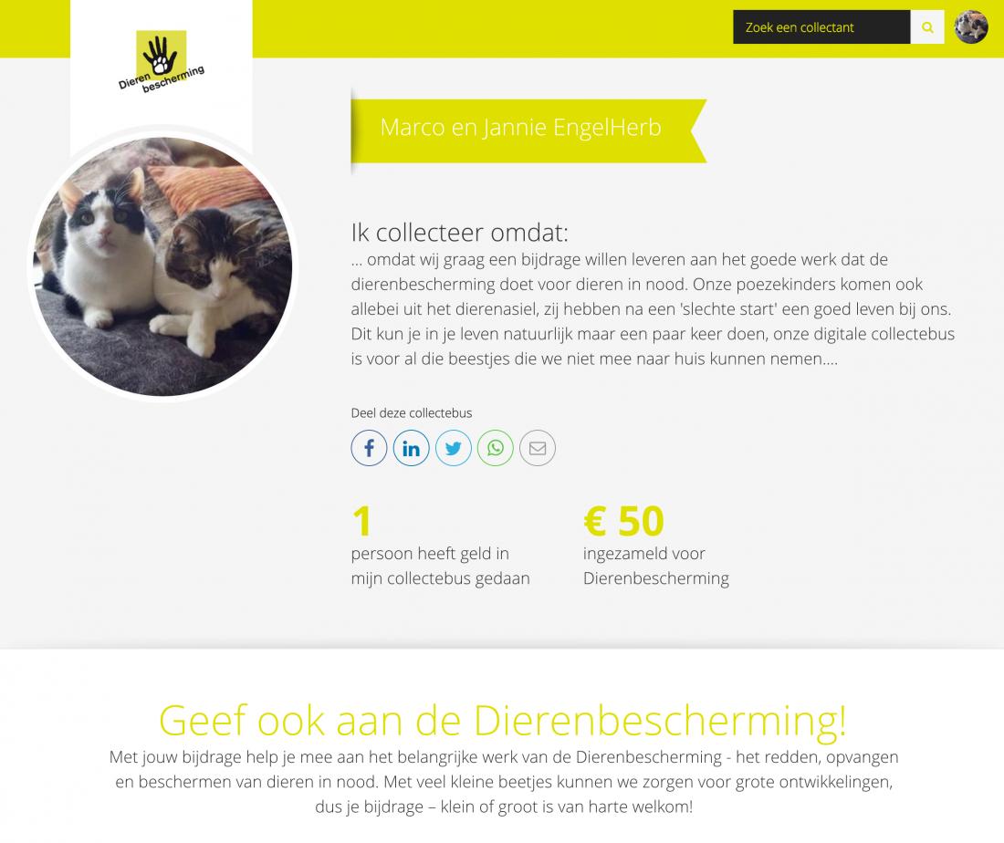 KlIK! om te doneren in onze digitale collectebus!